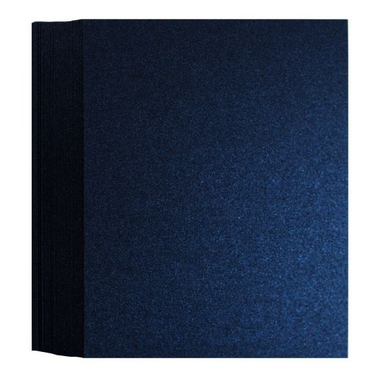 Shine Midnight Blue (3) Flat Cards Available at PaperPapers