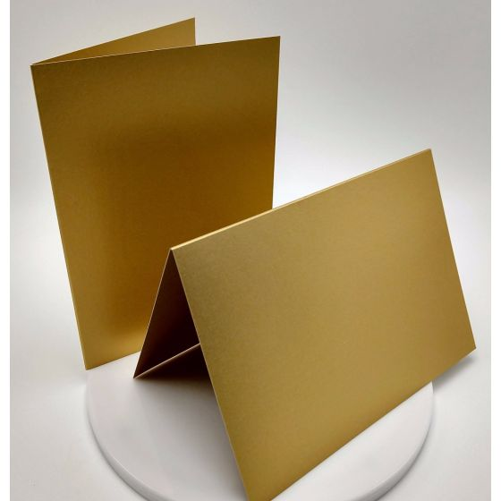 FAV Shimmer Pure Gold (5) Folded Cards Offered by PaperPapers