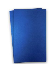 Shine BLUE SATIN - Shimmer Metallic Card Stock Paper - 11 x 17 Ledger Size - 92lb Cover (249gsm) - 100 PK