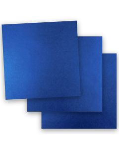 Shine BLUE SATIN - Shimmer Metallic Card Stock Paper - 12 x 12 - 92lb Cover (249gsm) - 50 PK