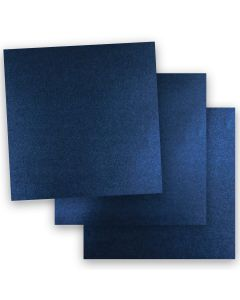 Shine MIDNIGHT Blue - Shimmer Metallic Card Stock Paper - 12 x 12 - 107lb Cover (290gsm) - 50 PK