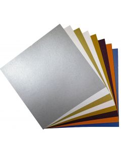 FAV Shimmer 12 x 12 Cardstock Variety Pack (8 Colors / 5 Each) - 40 PK