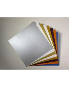 FAV Shimmer 12-x-12 Cardstock Variety Pack (8 Colors / 5 Each) - 40 PK