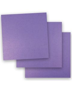 Shine VIOLET SATIN - Shimmer Metallic Card Stock Paper - 12 x 12 - 92lb Cover (249gsm) - 50 PK