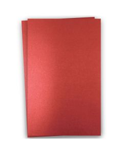Shine RED SATIN - Shimmer Metallic Card Stock Paper - 12x18 - 92lb Cover (249gsm) - 100 PK
