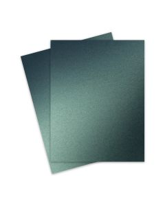 Shine MOSS Green - Shimmer Metallic Card Stock Paper - 8.5 x 11 - 107lb Cover (290gsm) - 25 PK