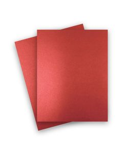 Shine RED SATIN - Shimmer Metallic Card Stock Paper - 8.5 x 11 - 92lb Cover (249gsm) - 25 PK