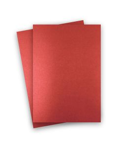 Shine RED SATIN - Shimmer Metallic Card Stock Paper - 8.5 x 14 Legal Size - 92lb Cover (249gsm) - 150 PK