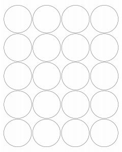 20 UP Laser Labels - 2 in CIRCLE - 20 Labels per Sheet-White-250