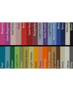 BASIS COLORS - 8.5 x 11 CARDSTOCK PAPER - 80LB COVER - PER SHEET