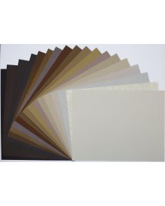 Crafters Pure Hues - Shades of BROWN - 8.5 X 11 (Text) MIX Finish (18 colors / 3 each) - 54 PK