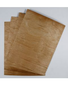 [Clearance] Crafters Wood Paper -  8.5 x 11 (16PT) CHERRY Veneer sheets with KRAFT back - 10 PK