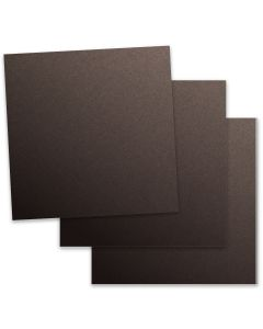 Curious Metallic - CHOCOLATE 12X12 Card Stock Paper 111lb Cover - 50 PK