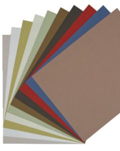 Earthy Crush Matte/Fiber 8.5 x 11 Cardstock Variety Pack (12 colors / 5 each) - 60 PK