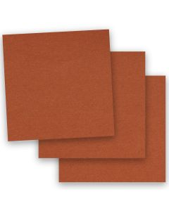 BASIS COLORS - 12 x 12 CARDSTOCK PAPER - Dark Orange - 80LB COVER - 50 PK