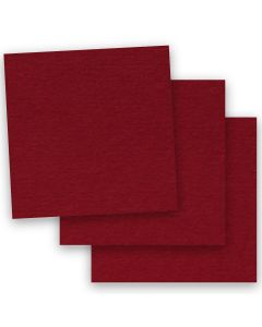 BASIS COLORS - 12 x 12 CARDSTOCK PAPER - Dark Red - 80LB COVER - 50 PK