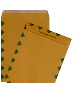 9X12 First Class Catalog Envelopes - 28lb BROWN KRAFT - Peel to Seal - (9 x 12) - 500 PK