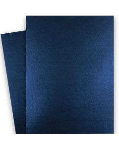 Shine MIDNIGHT Blue - Shimmer Metallic Card Stock Paper - 28x40 - 107lb Cover (290gsm) - 200 PK