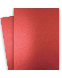 Shine RED SATIN - Shimmer Metallic Card Stock Paper - 28x40 - 92lb Cover (249gsm) - 250 PK
