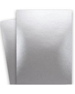 Shine SILVER - Shimmer Metallic Card Stock Paper - 28x40 - 92lb Cover (249gsm) - 250 PK