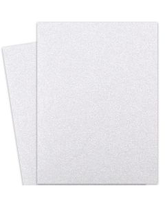 Glitter Paper - DIAMOND WHITE (1-Sided) 28X40 Full Size Paper (12PT Offset)