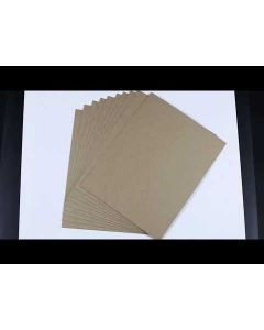 Kraft Raw CHIPBOARD 30 PT 8.5-x-11-inch - 10 Sheets per pack