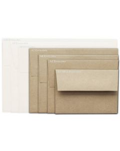 [Clearance] Brown Bag Envelopes - KRAFT - A7 Envelopes - 50 PK