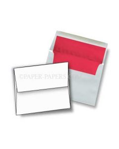 A6 FOIL LINED Envelopes - Ultrawhite 70T Envelopes with Red Foil Lining - 50 PK