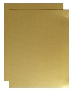 FAV Shimmer Pure Gold - 8.5 x 11 Card Stock Paper - 92lb Cover (250gsm) - 100 PK