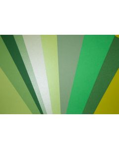 Crafters Pure Hues - Shades of GREEN - (Cardstock) Mix Finish (10 colors / 5 each) - 50 PK