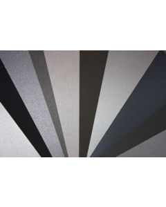 Crafters Pure Hues - Shades of SILVER - (Cardstock) Metallic Finish (10 colors / 5 each) - 50 PK