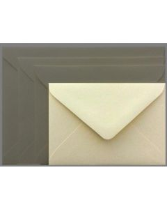 Mohawk Superfine SOFTWHITE Eggshell - 4 BAR Envelopes EURO FLAP (80T 3-5/8X5-1/8) - 25 PK