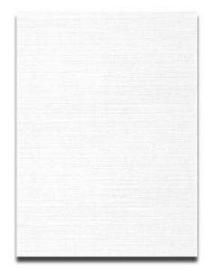 Neenah CLASSIC LINEN 8.5 x 11 Card Stock - Solar White - 80lb Cover - 2000 PK