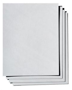100% Cotton Card Stock - Savoy Soft Grey - 8.5X11 (216X279) - 184lb DT Cover (500gsm) - 25 PK