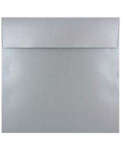 [Clearance] Shine Shimmer Silver (7x7) - 7 in Square ENVELOPES (Flap 2-SC) - 25 PK