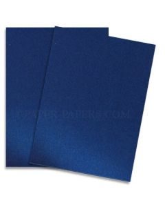 Shine BLUE SATIN - Shimmer Metallic Card Stock Paper - 8.5 x 11 - 92lb Cover (249gsm) - 100 PK