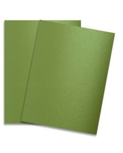 [Clearance] Shine LIME SATIN - Shimmer Metallic Card Stock Paper - 8.5 x 11 - 92lb Cover (249gsm) - 25 PK