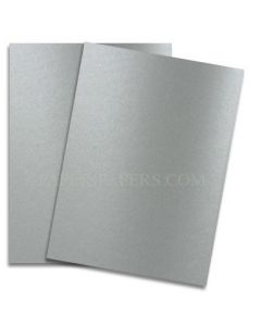 Shine PEWTER - Shimmer Metallic Card Stock Paper - 8.5 x 11 - 107lb Cover (290gsm) - 25 PK