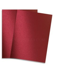 Shine RED SATIN - Shimmer Metallic Paper - 8.5 x 11 - 32/80lb Text (118gsm) - 25 PK