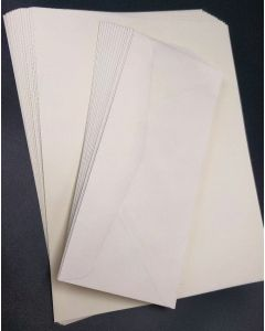 Natural Light Linen Stationery Set - 25 in a set