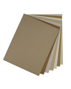 Crafters Pure Hues - Shades of KRAFT - TEXT Paper Pack (7 colors / 5 each) - 35 PK