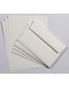 Linen Natural Cardstock and A9 Envelope Set - 10 in a set