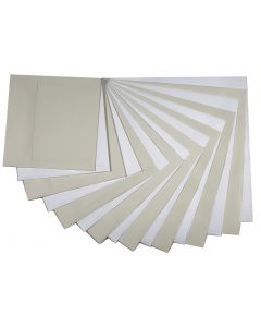 Square Envelopes VARIETY Basics (8 sizes / 2 colors / 2 each) - 32 PK