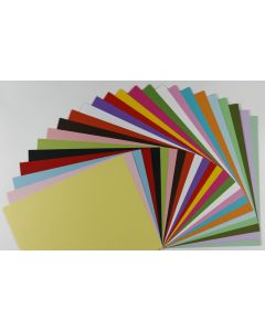 Colorful 8.5 x 11 Poptone Matte CARDSTOCK  Variety Pack  (24 colors / 5 each) - 120 PK