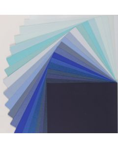Crafters Pure Hues - Shades of BLUE - (Text) MIX Finish (19 colors / 3 each) - 57 PK