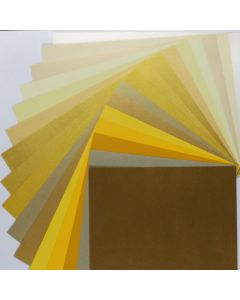 Crafters Pure Hues - Shades of GOLD - (Text) MIX Finish (16 colors / 3 each) - 48 PK