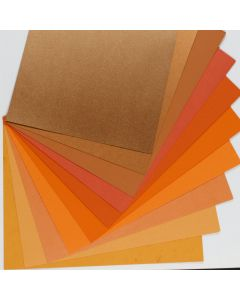 Crafters Pure Hues - Shades of ORANGE - (Text) MIX Finish (10 colors / 3 each) - 30 PK