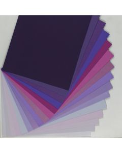 Crafters Pure Hues - Shades of PURPLE - (Text) MIX Finish (15 colors / 3 each) - 45 PK