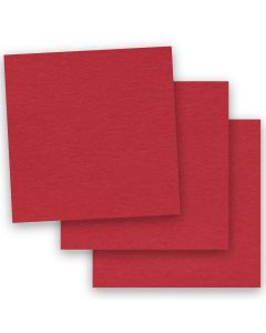 BASIS COLORS - 12 x 12 PAPER - Red - 28/70 TEXT - 50 PK