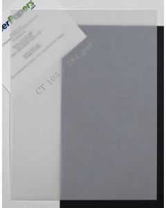 CT Clear Translucent (Vellum) 105lb DT Cover 8.5 x 11 Paper - 100 PK